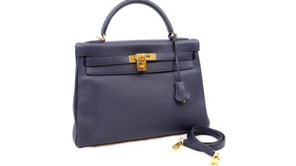 エルメス ケリー32 トリヨンクレマンス ブルーアンクルのバッグを高価買取いたしました。